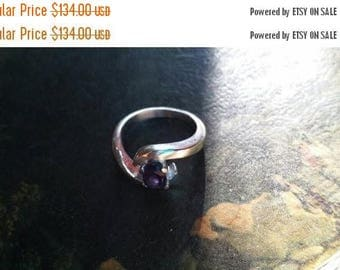 Holiday SALE 85 % OFF Amethyst Size 7 Ring Gemstone. 925 Sterling  Silver FLASH Sale