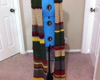 Tom Baker Doctor Who Crochet Scarf