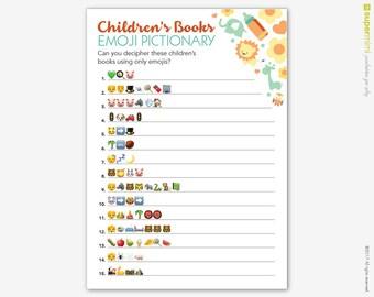 Emoji Pictionary Baby Shower Game / Instant Digital Download