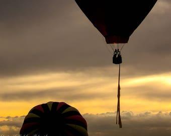 """Wall Art """"Hare & Hounds ~ Sunrise"""", Hot Air Balloon, Sunrise"""