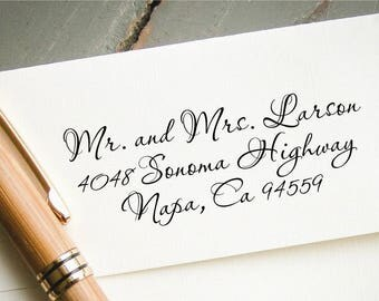 Custom Slef-Inking Return Address Stamp, Calligraphy Address Stamp, Personalized Stamp, Housewarming Gift, Wedding Invitation