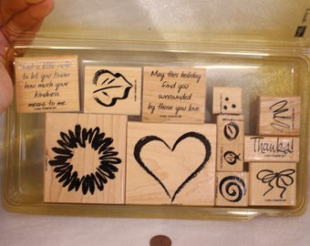 Stampin Up Sketch It set of stamps for Scrapbooking or Card Making pictures words