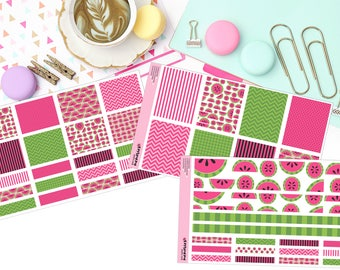 SWEET WATERMELON KIT Paper Planner Stickers!