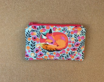 Floral Cotton Fox Purse