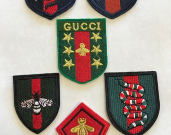 Gucci Set of 6 Iron On Patches Patch Bumble Bee