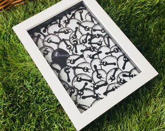 Ewe Are One In A Million - 3D White Box Framed Quirky Sheep ART Print