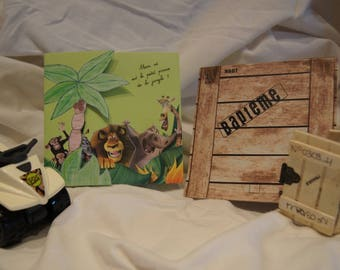 Jungle theme Madagascar invitation