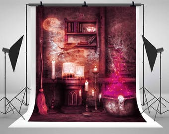 Magic Halloween Mystery Ruins Photography Backdrops No Wrinkles Newborn Baby Photo Backgrounds for Children Studio Props