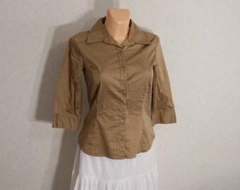 Woman blouse, woman blouse striped shirt Small
