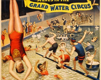 The Barnum & Bailey Greatest Show on Earth Scenes in the Grand Water Circus. Print/Poster (4871)