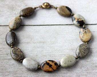 Mens Stone Bracelet