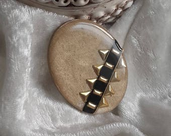 black gold beige oval embellishment handmade cabochon creation