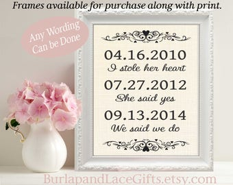 Wedding Gift Anniversary Gift to Wife We said I Do Gift for Wife Husband Gift for couple Personalized Gift to Husband Shower gift (ana110)