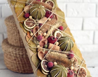 Natural wall decoration , Kitchen decor, Rustic style, Decoration dried flowers, Teahouse, Coffee house, Summer, Spring, Mother's Day Gift
