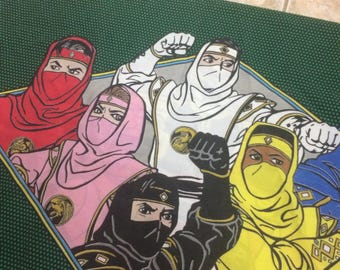 Vintage mighty morphin power rangers pillow case 90s movie