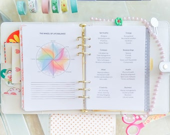 Wheel of Life Balance Printable Filofax A5 Inserts Colorful Planner Life Wheel Template Work Life Balance PDF  Life Planner