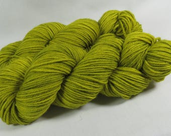 Hand Dyed Yarn, Worsted, Merino, Mighty Grasshopper, Indie Dyed Knitting