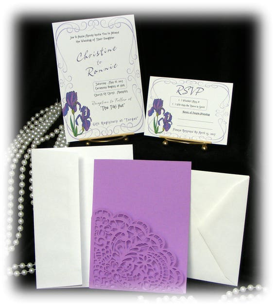 "The Christine ""WEDDING INVITATIONS PLUS"" See Price List Inside"