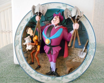 """Disney 3D Relief Collector Plate """"Mine Mine Mine""""/Famous Scene From The Movie """"Pocahontas""""/Numbered And New In Box W/Certificate of Auth."""