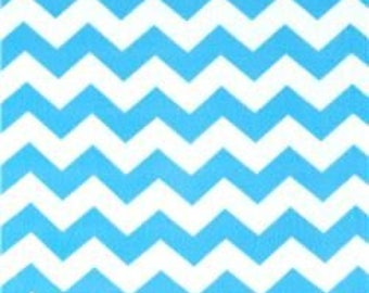 Pink and blue chevron hand tied fleece blankets