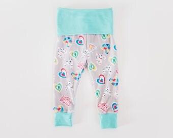 Baby Leggings/Size 6-9 months/Legging Pants/Newborn Toddler Leggings/Coming Home Outfit/Baby Shower gift/Baby girl leggings/Boho leggings