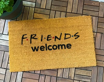 Friends TV Show Gifts, Welcome Mat, Unique Gifts, custom doormat, Housewarming gift, Wedding gift, Friends Theme, Gift for Friends