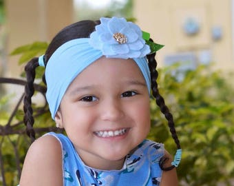 PREORDER! Flower headband / Spring heaband / Custom color / Nylon Headband / Baby turban
