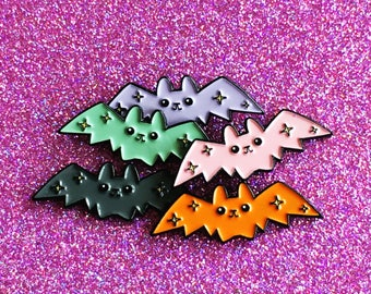 Cloud of Bat Pins // Friendship Pins // Soft Enamel Pins