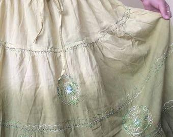 embellished free size hippie maxi skirt