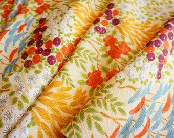 JPI - Vintage Japanese Kimono Silk Fabric **Spring Field**