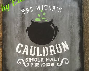 The Witch's Cauldron Sign (Gray)