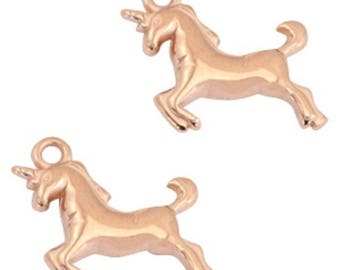 DQ Metal Pendant-unicorn-1 piece-17x16 mm-Color selectable (color: Gold)