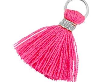 Tassels, tassel-3 pcs.-1.8 cm-Color selectable (color: Magenta pink)