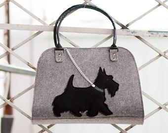 Dog bag Dog purse Felt handbag Shoulder Bags Women Tote Bag Women's purse Women's bags Tote bag Feltet purse Bag with dog Pet bag