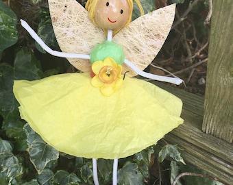 Fairy hanging decoration - Yellow