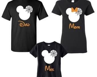 Disney Halloween Family Shirts , Halloween Family Matching Shirts, Minnie and Mickey ,Disney Family Vacation Tee's, Halloween Family Shirts