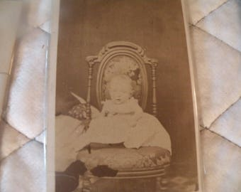 Victorian Cabinet Card Hidden Mother Photo