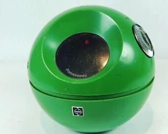 Vintage Panasonic green portable transistor radio