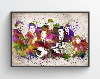 Dropkick Murphys Poster, Dropkick Murphys Print, Dropkick Murphys Art, Dropkick Murphys Decor, Home Decor, Gift Idea
