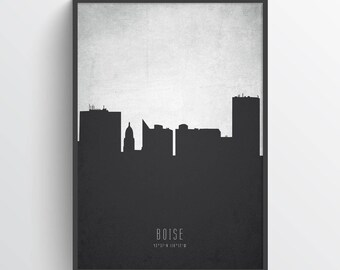 Boise Skyline Print, Boise Cityscape, Boise Poster, Boise Art, Boise Decor, Home Decor, Gift Idea, USIDBO19P