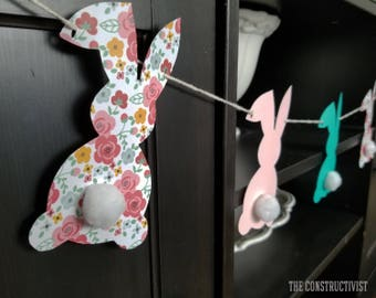 Easter 》BUNNY 《 Garland/Banner/Rabbit/Spring/Photoshoot/Party Supplies/Decor