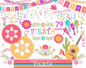 Fiesta Clip Art, Sombrero, Mariachi Guitar, Mexican Hat, Wedding, Maracas, Mexican Party Clip Art - Instant  Download - CA077