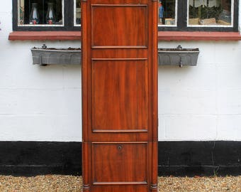 Victorian Antique Mahogany Narrow Cupboard
