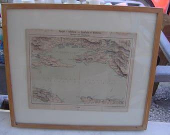 Vintage map of Croatia bearbeitet von Dr. J Skarica