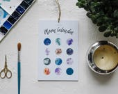 2018 Moon Calendar, Moon Calendar, 2018 Calendar, Desk Calendar, Wall Calendar, Christmas Gift, Gifts for Her, Astrology