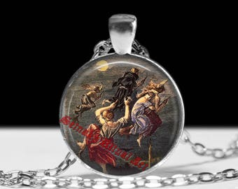 Witch jewelry Witchcraft pendant Gothic Jewellery Occult necklace #422