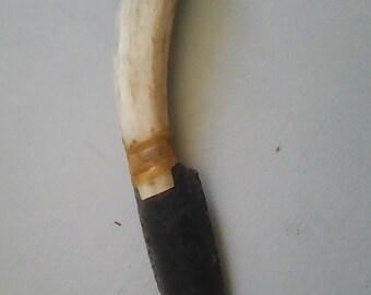 A beautiful Obsidian blade knife