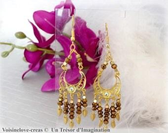 Hoop earrings gold boho chic