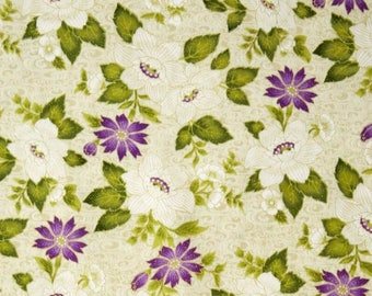 Ribbon Floral Fabric By Benartex 0741