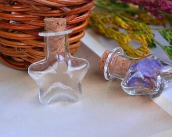 x 1 glass Star (PZ012) clear glass jar